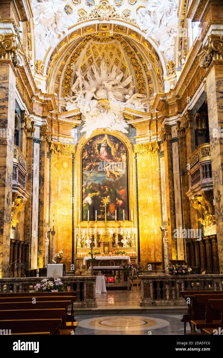 Kirche des Heiligen Ludwig der Franzosen in Rom Italien Stockfoto