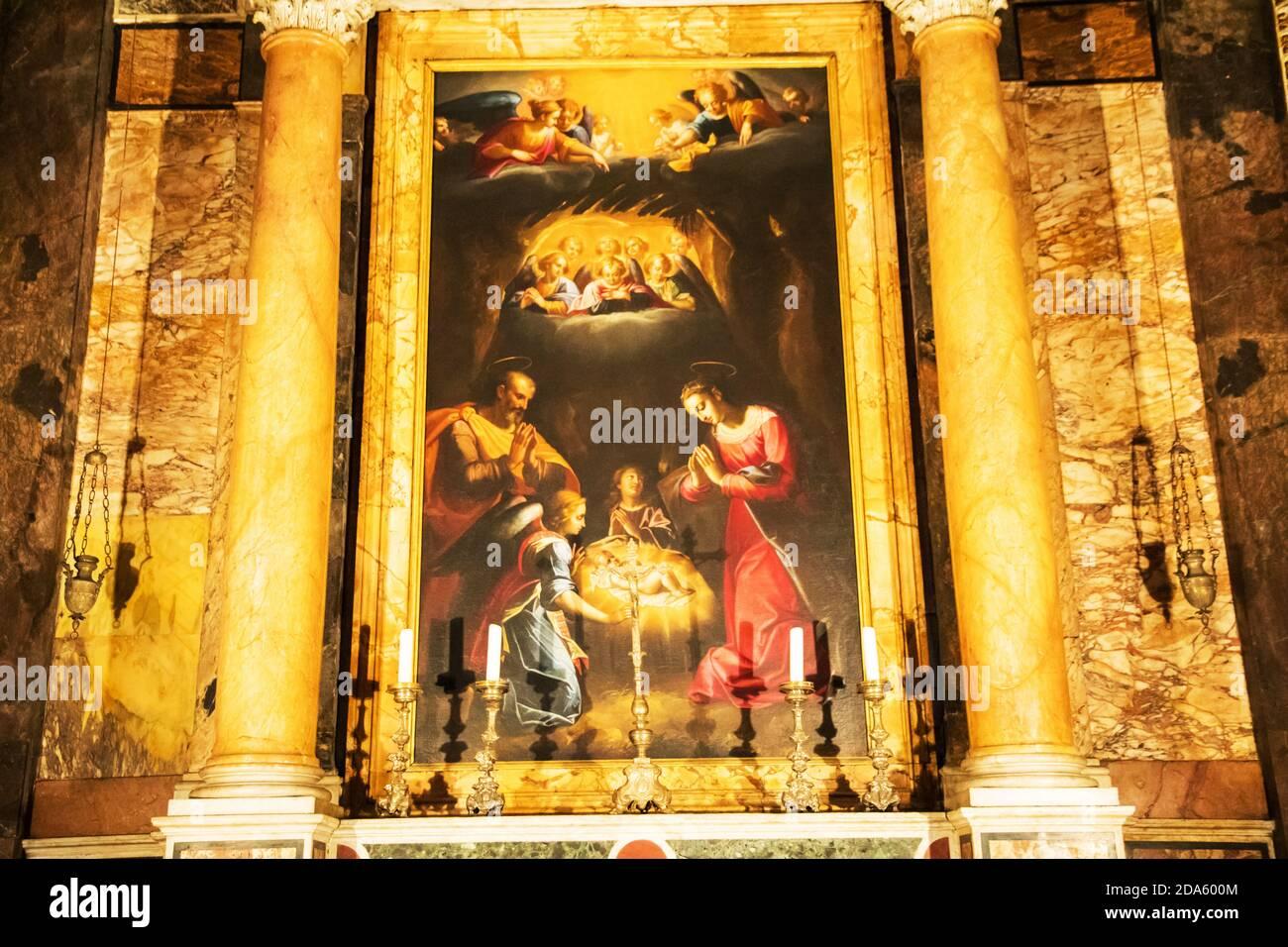 Cappella della Santa Vergine in der Kirche von Saint Louis von Die Franzosen in Rom Italien Stockfoto