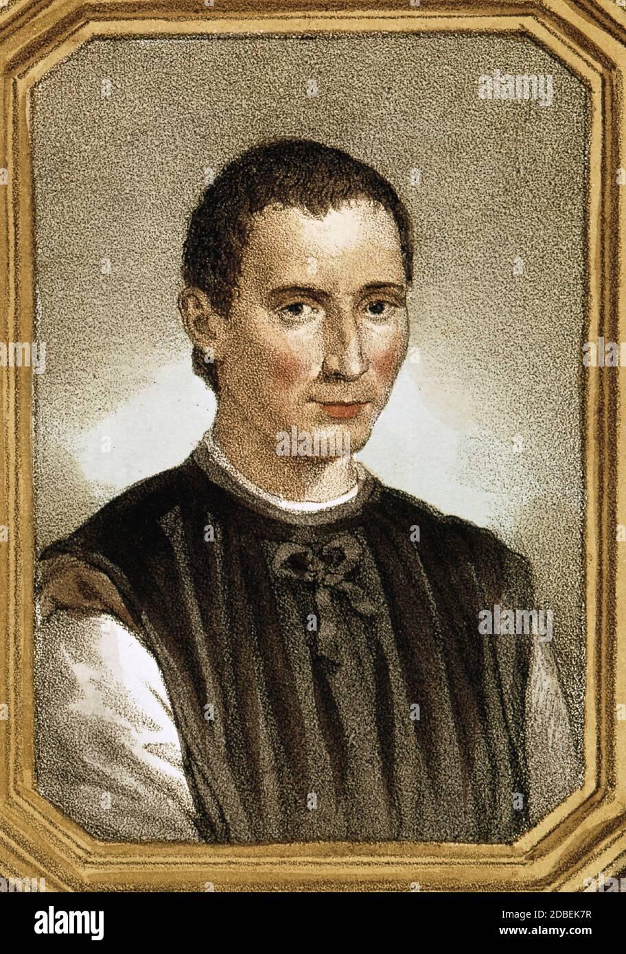 Portrait Of Niccolò Machiavelli Stockfotos und -bilder Kaufen - Alamy