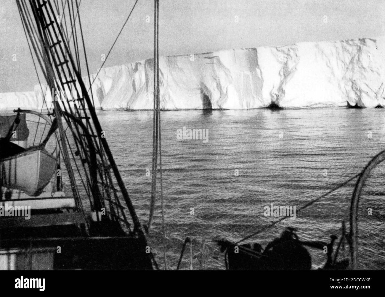 Australasian Antarctic Expedition, Barrier Cliffs Stockfoto