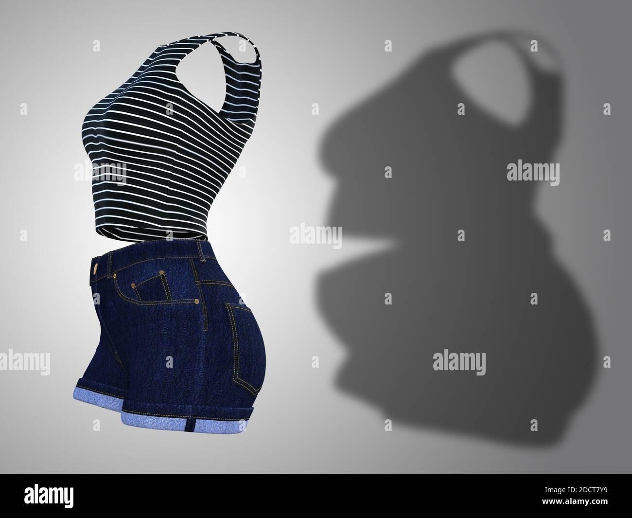 Enge Kleidung Belly Big 340 Dresses