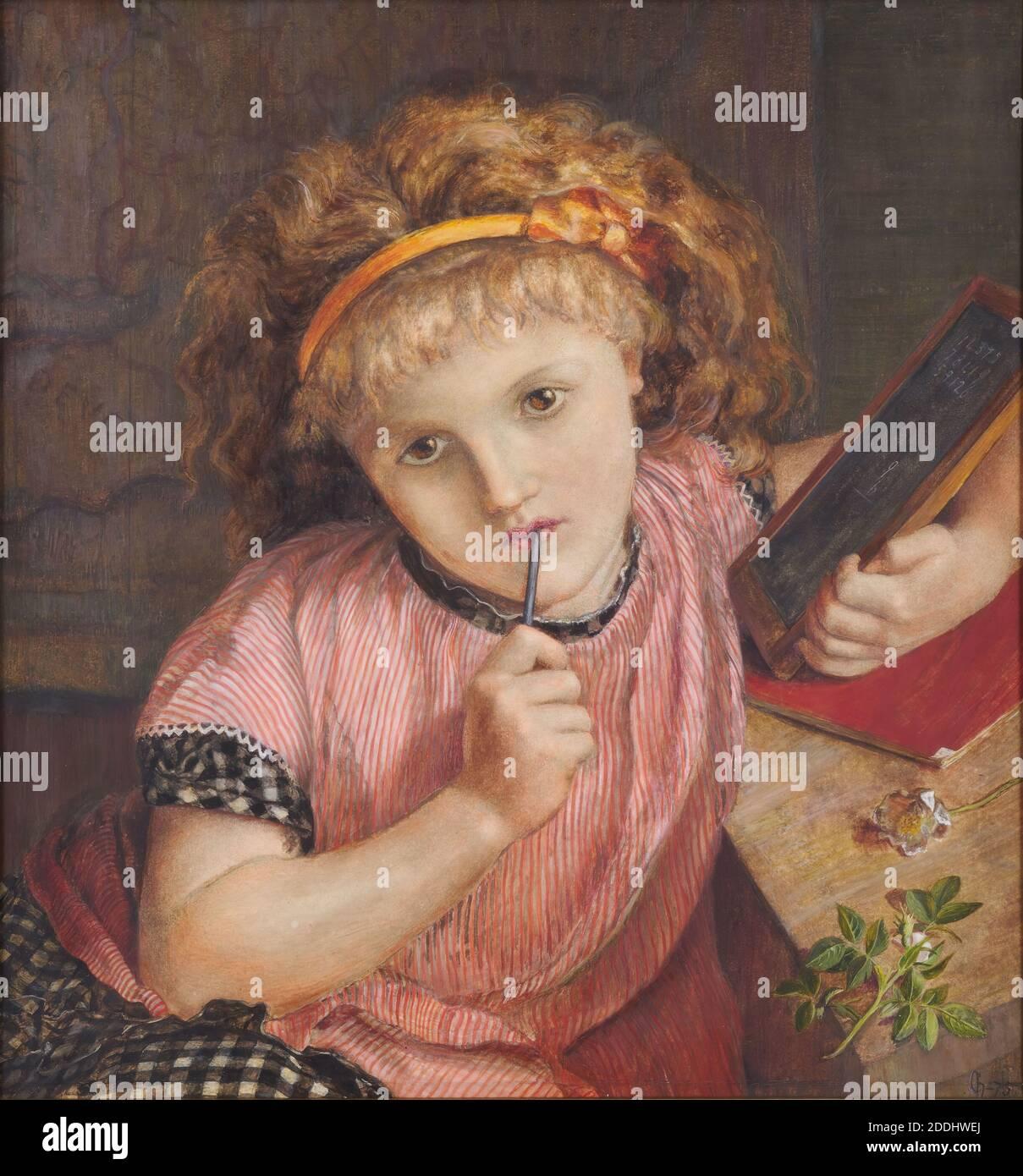 A Deep Problem 1875 Catherine Madox Brown Gest 1927 Catherine Madox Brown Hueffer War Das Erste Kind Von Ford Madox Brown Und Emma Hill Auch Ein Künstler Und Modell Mit Den Pre Raphaelites Verbunden