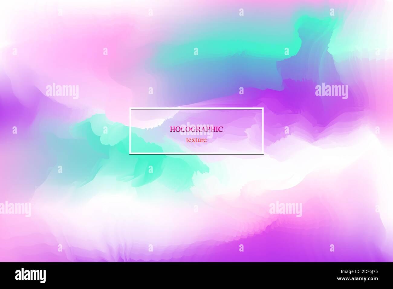 Holographic Folie Textur Design Vorlage Hintergrund. Vektorgrafik Stock Vektor