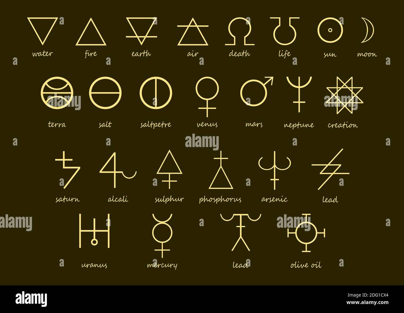 Alchemy Symbols Stockfotos und  bilder Kaufen   Alamy