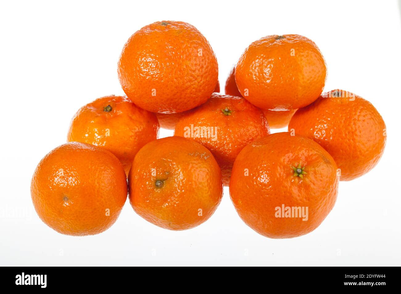 Mandarine orange, Småcitrus (Citrus reticulata) Stockfoto