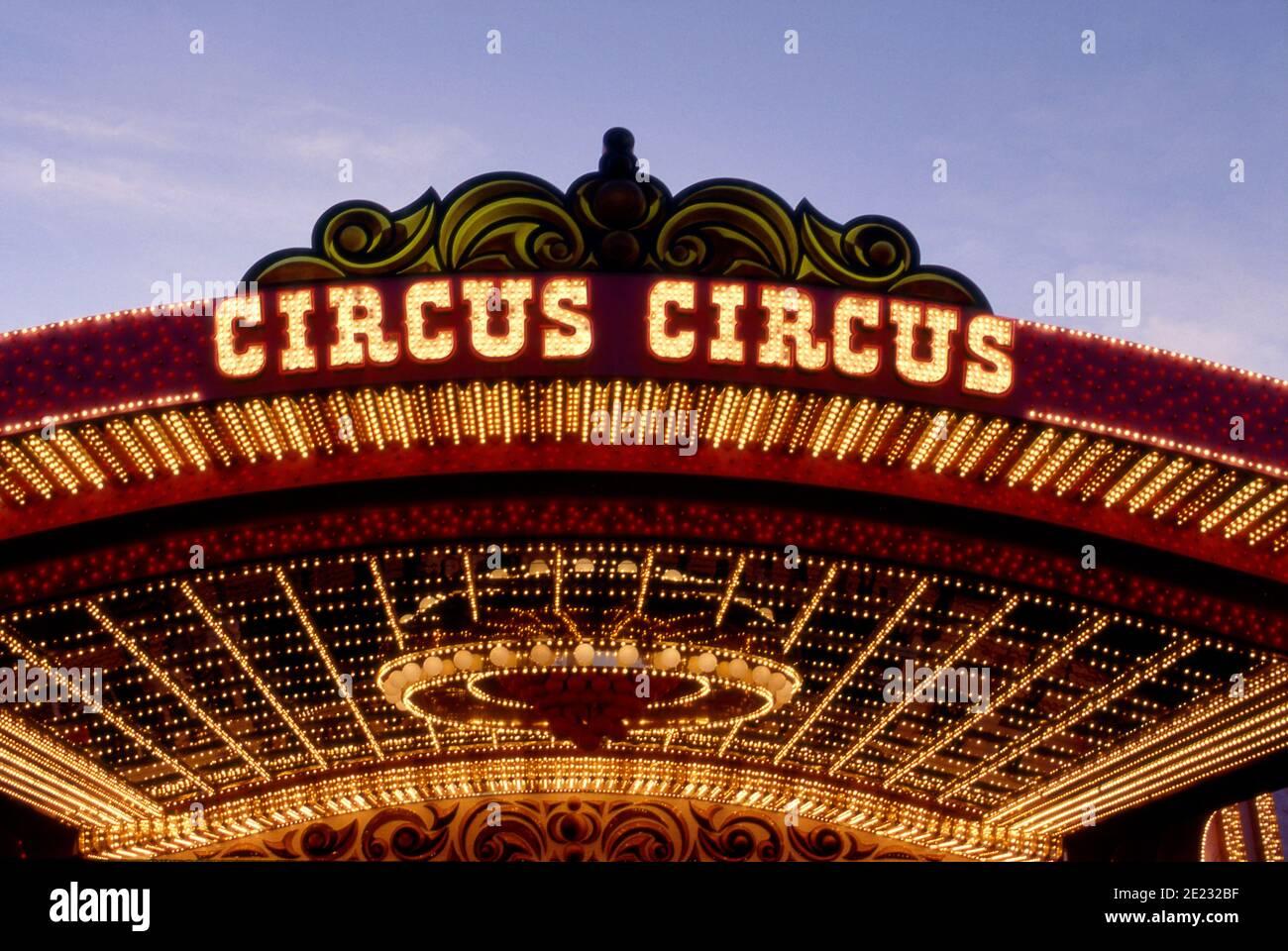 Eintritt zum Circus Circus Hotel und Casino in Las Vegas, Nevada Stockfoto
