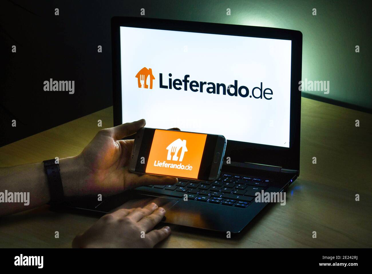 Logo Lieferando Stockfoto