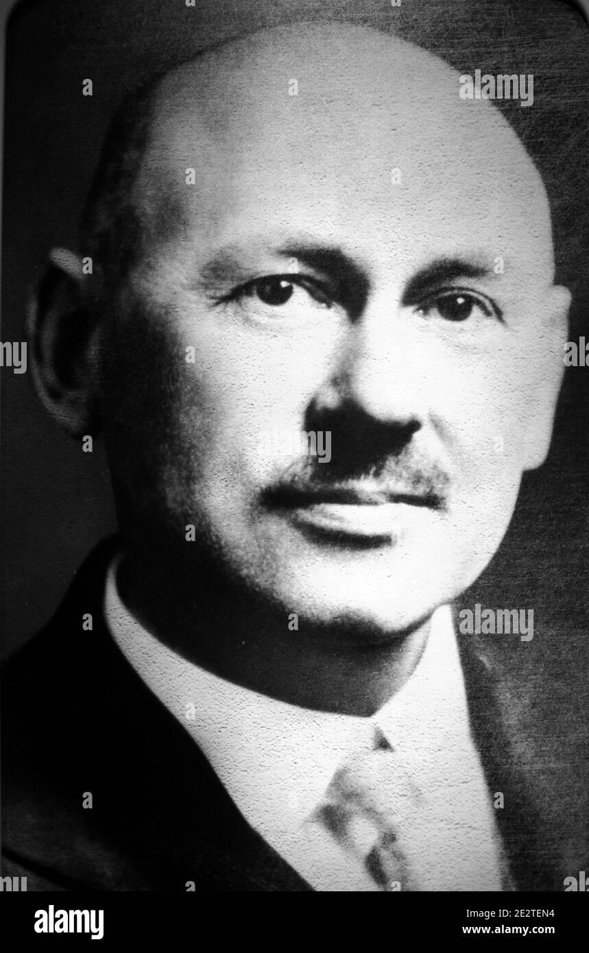 Porträt von Robert Hutchings Goddard (1882-1945). Amerikanischer Physiker, Enginner, Erfinder Und Raketenwissenschaftler Stockfoto