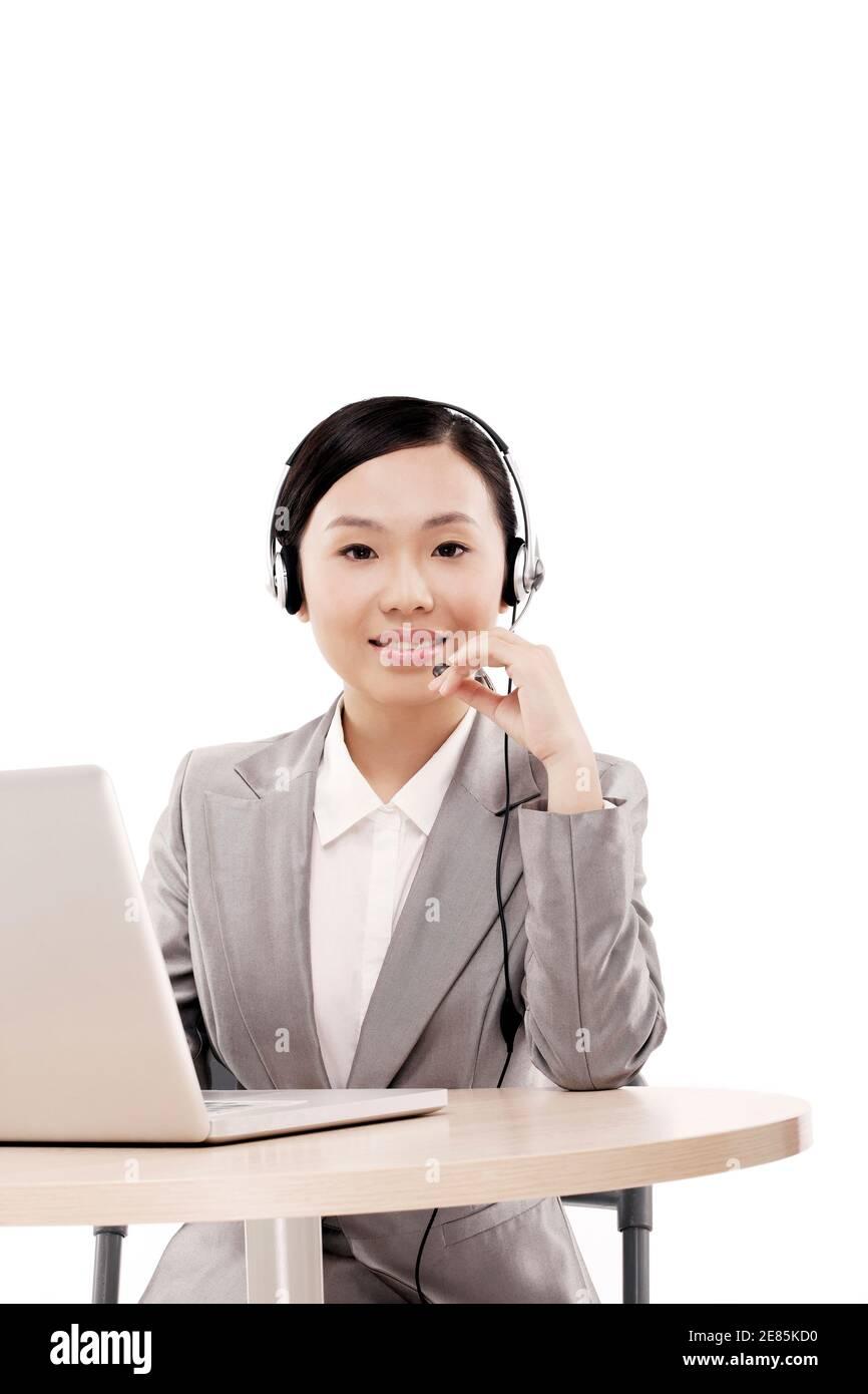 Business Frau mit Computer hochwertige Foto Stockfoto