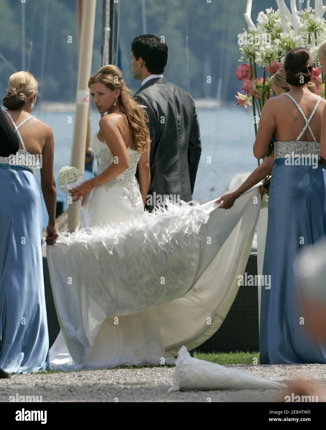 Michael Ballack Wife Simone Ballack Stockfotos Und Bilder Kaufen Alamy