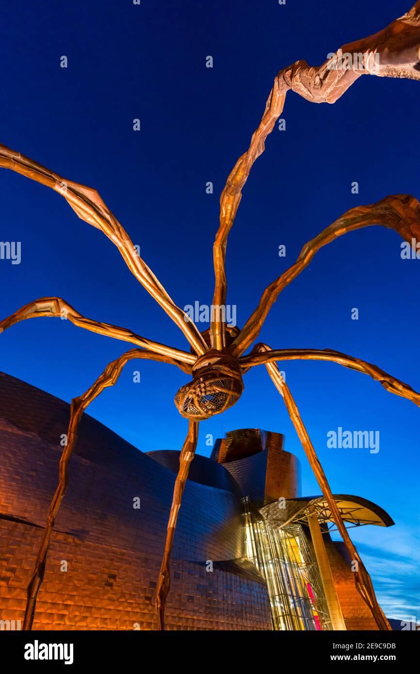 Skulptur 'Mama' im Guggenheim Museum in Bilbao, Bizkaia, Baskenland, Spanien, Europa. Stockfoto