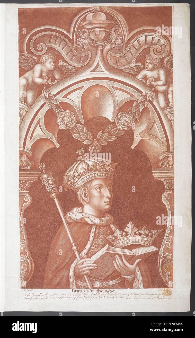 HENRICUS VI FUNDATOR Autor Bretherton, James 8,58.q. Erscheinungsort: [England] Verlag: [Verlag nicht identifiziert] Erscheinungsdatum: [Vor 1799] Artikeltyp: 1 Print Medium: Stipple Engraving and Rading printed in Red ink Maße: Platemark 63,6 x 33,5 cm, auf Blatt 66,3 x 40,7 cm Ex-Besitzer: George III, King of Great Britain, 1738-1820 Stockfoto