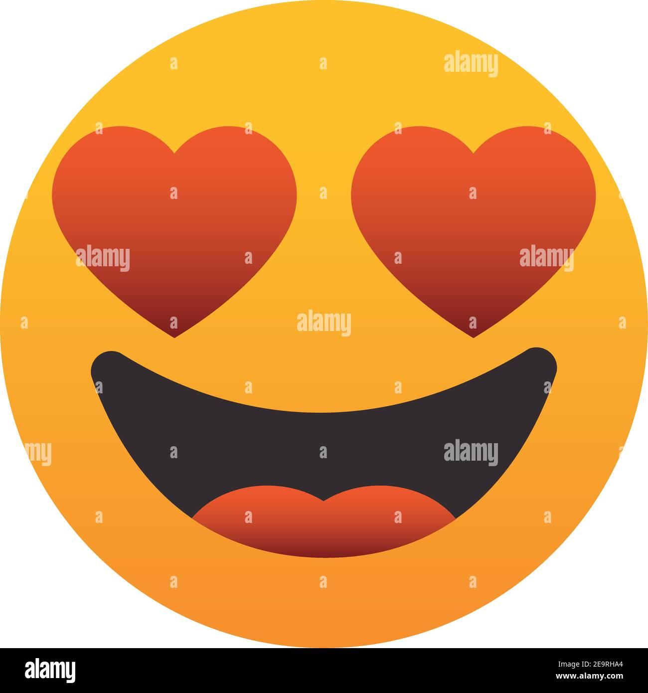 Den smiley augen herzen in mit (?) Lächelnder