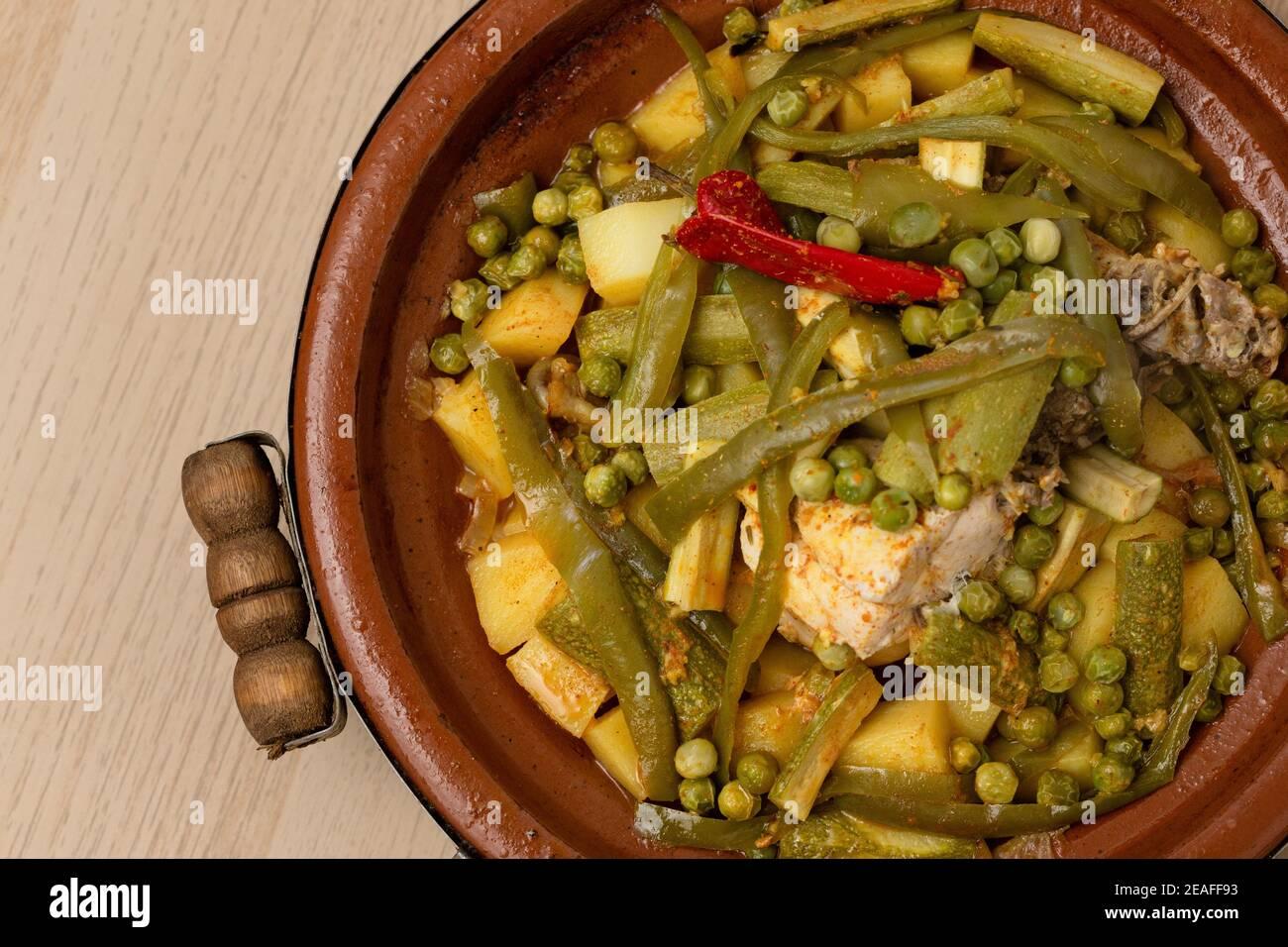 Morocco Tagine Food Chicken Green Stockfotos und  bilder Kaufen ...