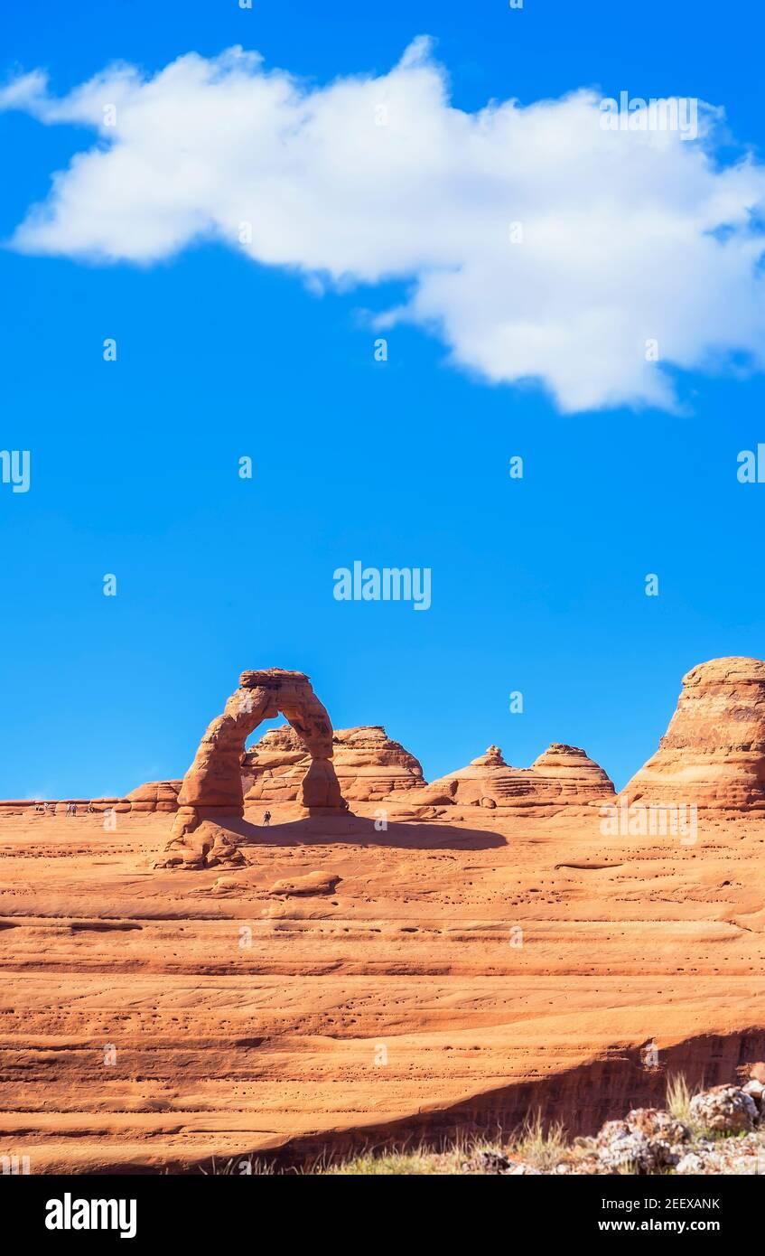 Delicate Arch, Arches National Park, Moab, Utah, Vereinigte Staaten von Amerika, Stockfoto