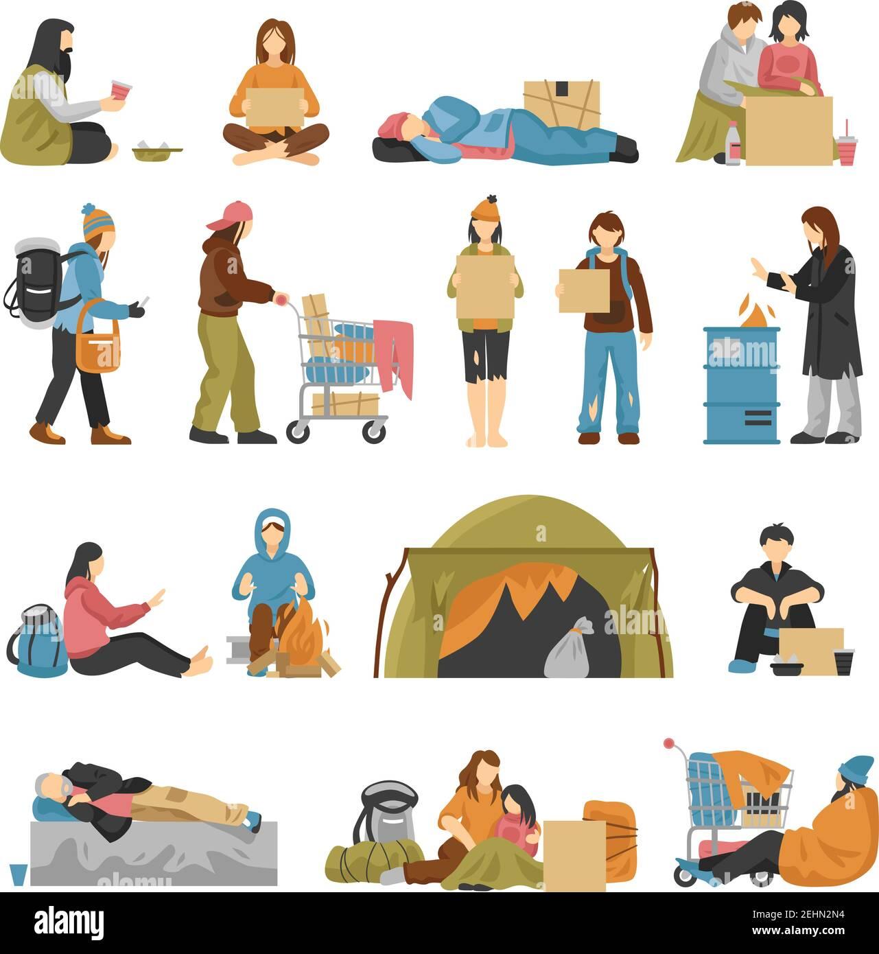 Obdachloser Müll Stock Vektorgrafiken kaufen   Alamy