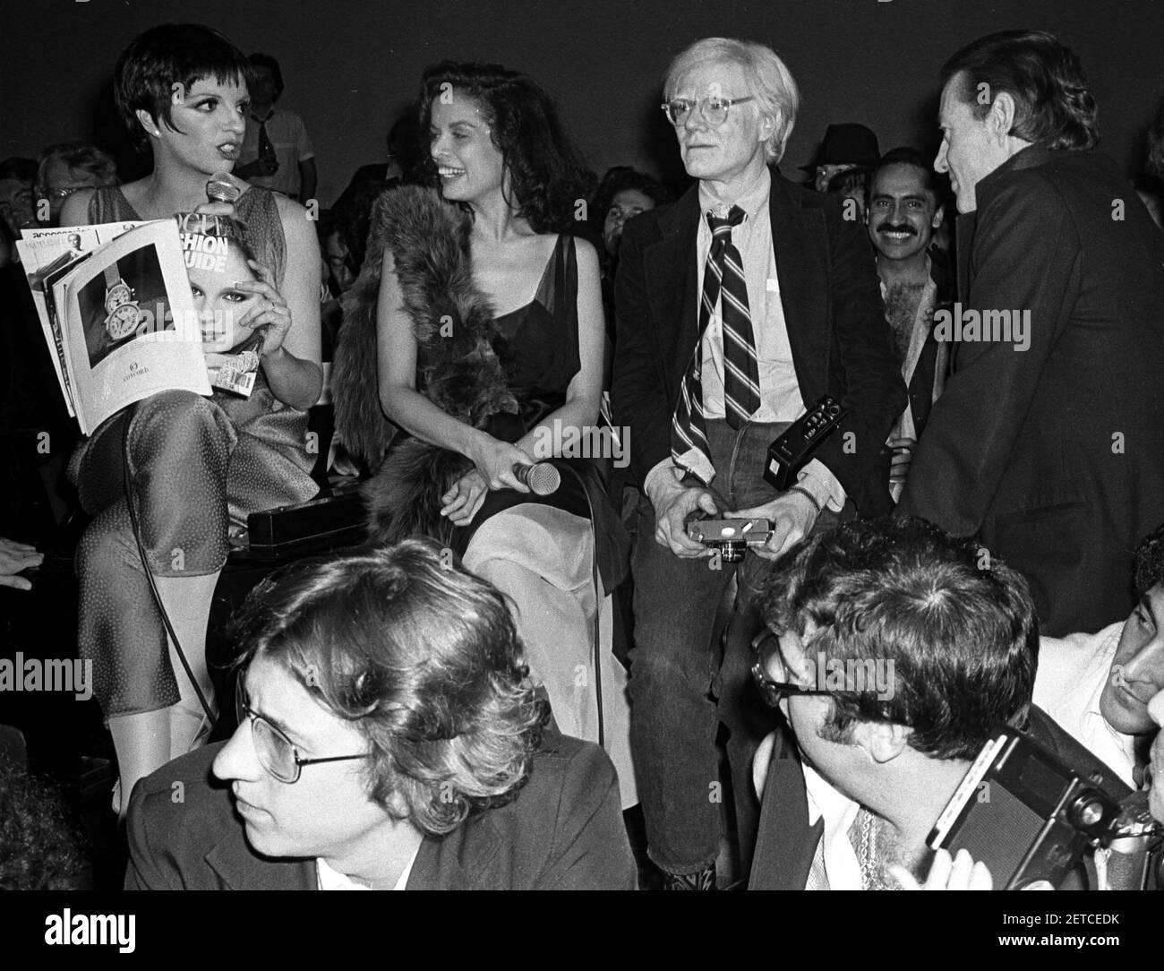 Liza Minnelli, Bianca Jagger, Andy Warhol, Halston Polaroid Night ...