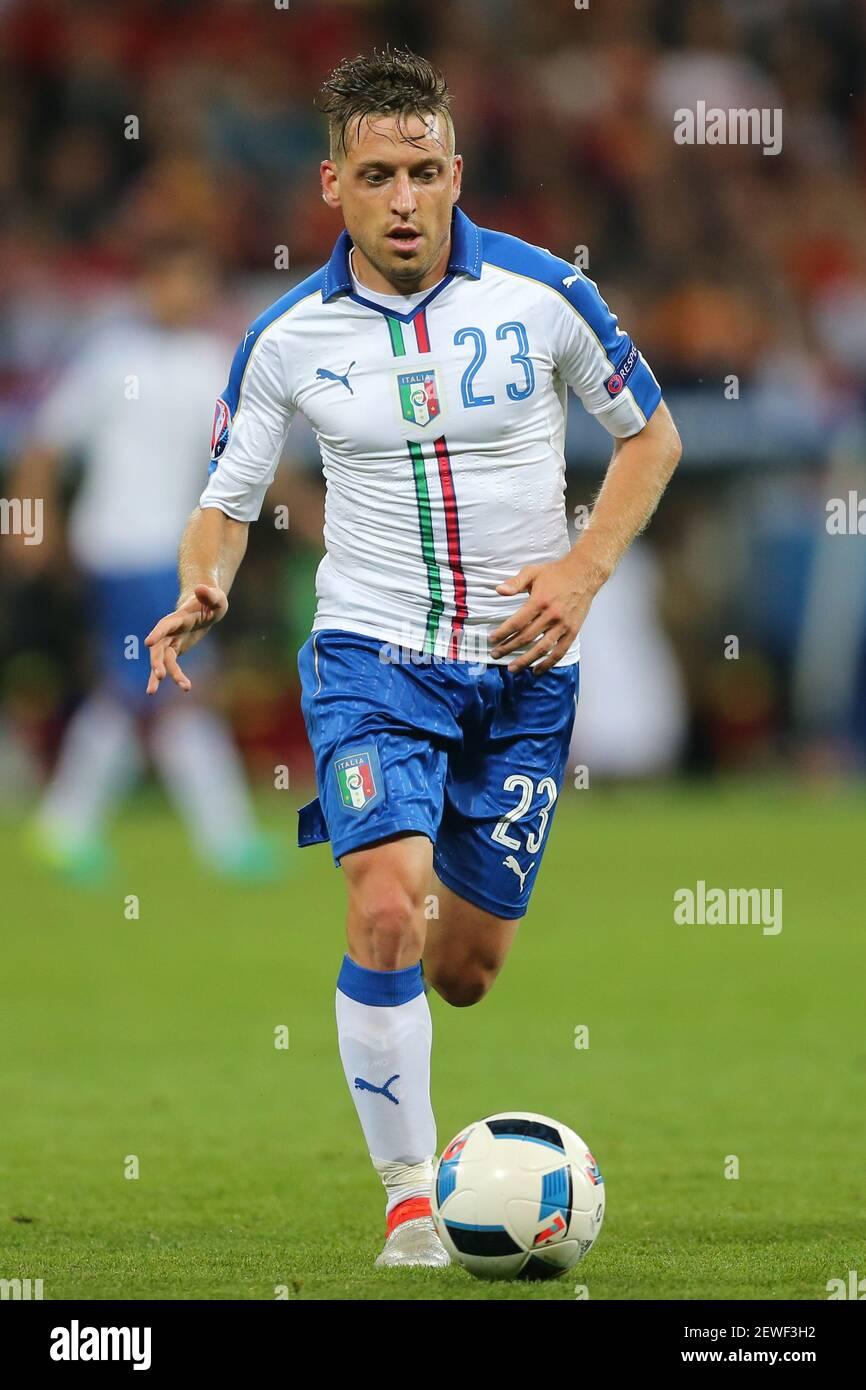Emanuele Giaccherini (ITA), Belgien - Italien, Fußball-Europameisterschaft,  EURO 2016, fot. Tomasz Jastrzebowski / Foto Olimpik Stockfotografie - Alamy