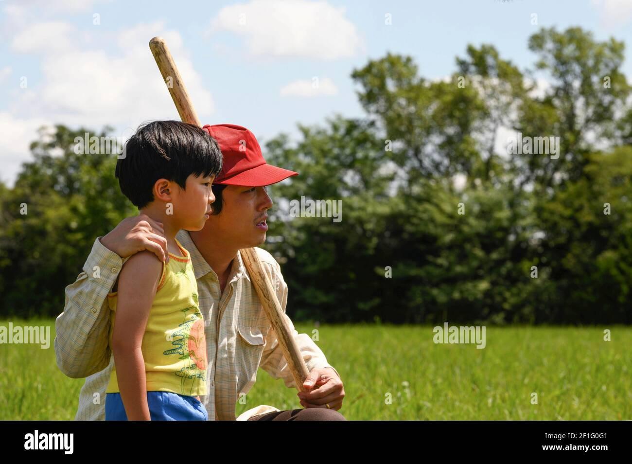 Minari (2020) unter der Regie von Lee Isaac Chung mit Steven Yeun, Yeri Han und Alan S. Kim. Eine koreanische Familie beginnt eine Farm in 1980s Arkansas. Stockfoto