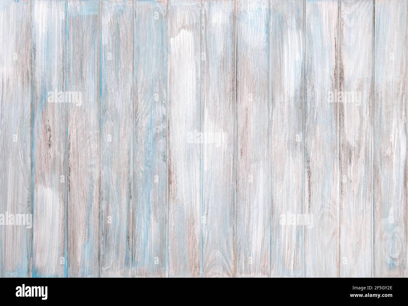 Blauer Holzhintergrund. Natürliche rustikale Holzstruktur Stockfoto