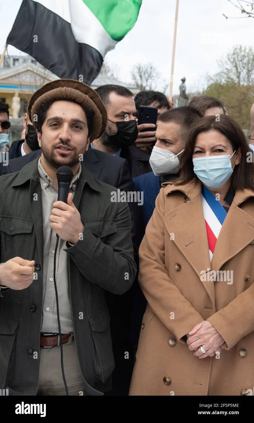 Frankreich. März 20, 20th. Ahmad Massoud, Sohn des verstorbenen ...