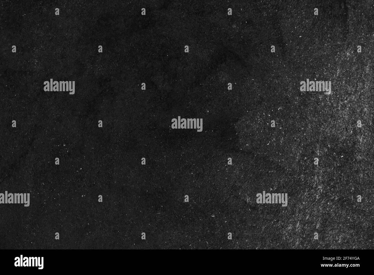 Leere Vorderseite echt schwarze Kreidetafel Hintergrund Textur in College-Konzept für Back to School Kind Tapete für erstellen weiße Kreide Text zeichnen Grafik. Bac Stockfoto