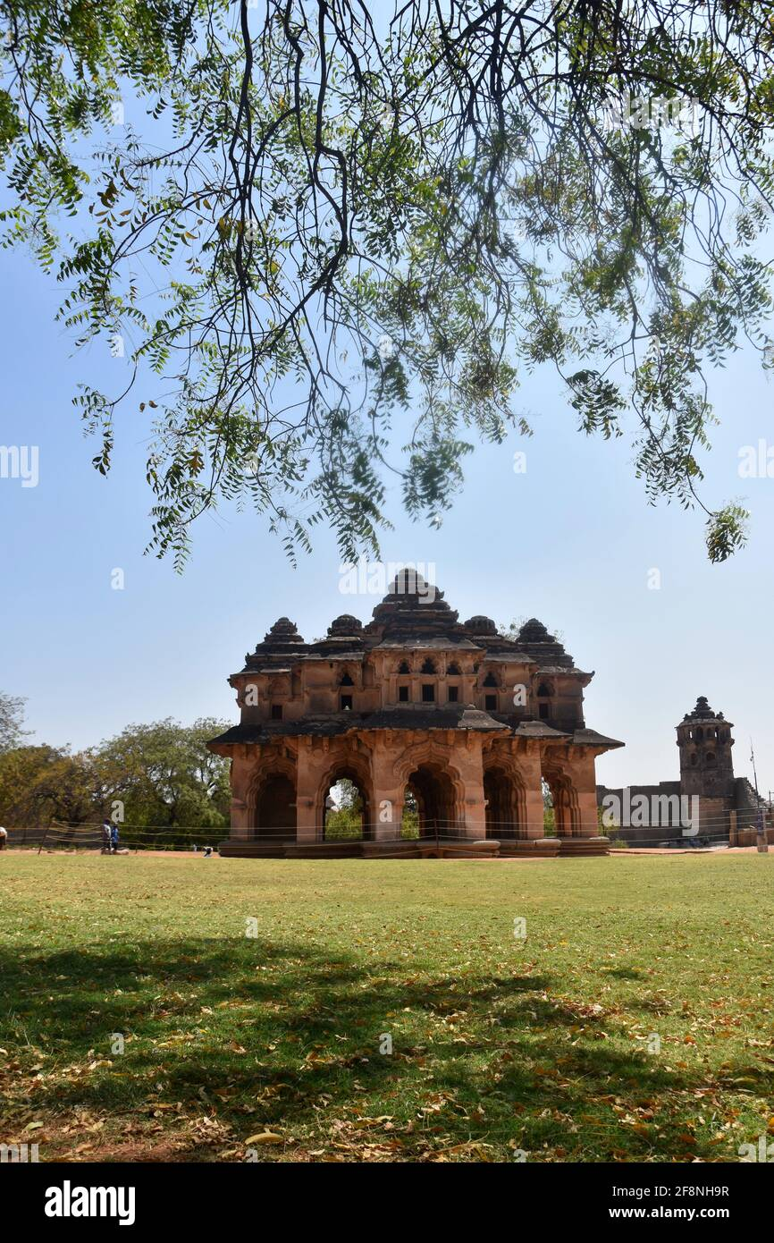 Lotus Mahal Royal Center Hampi, Karnataka, Indien Stockfoto