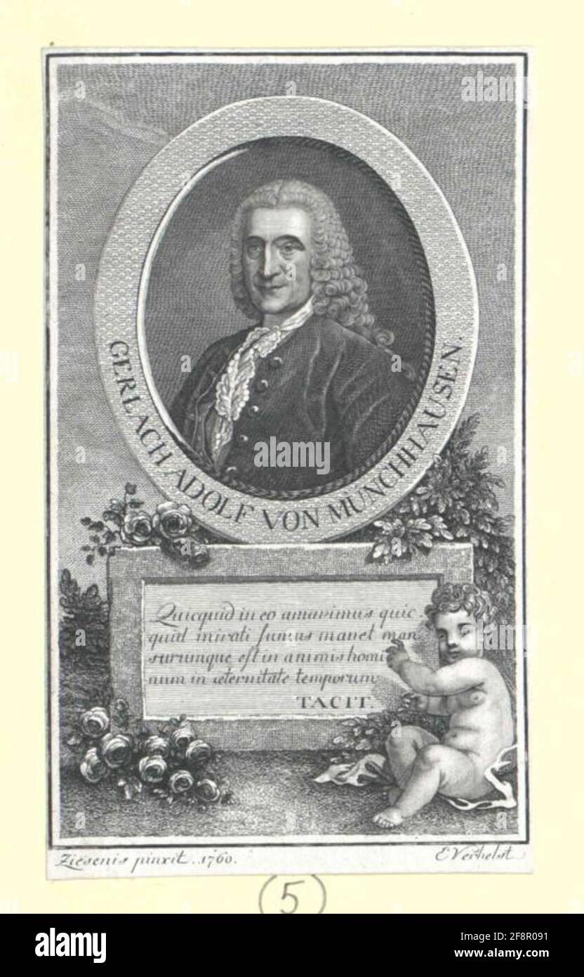 Münchhausen, Gerlach Adolf Freiherr von. Stockfoto