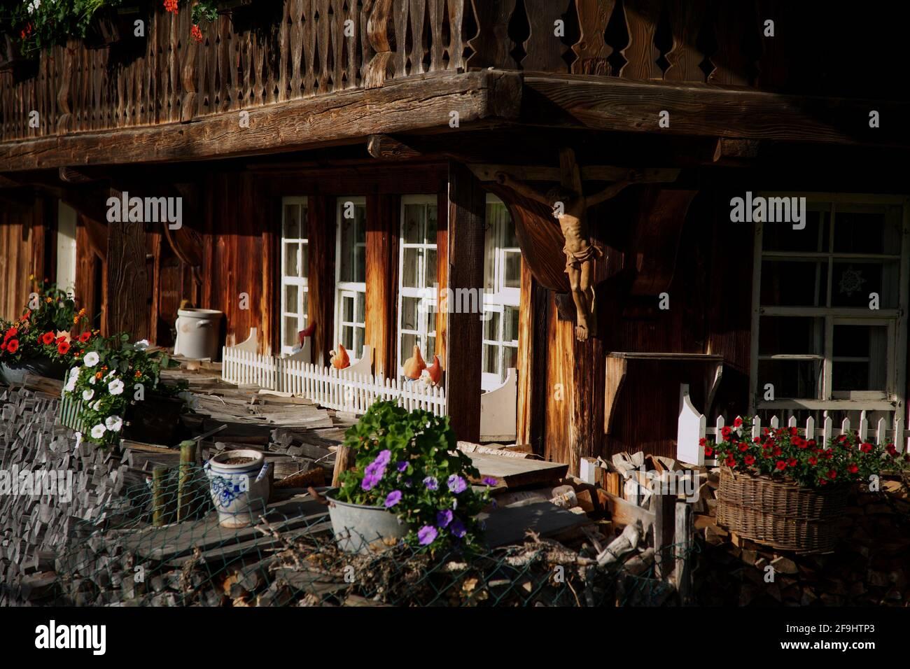 Alter Schwarzwaldhof bei Geschwend im Schwarzwald Stockfoto
