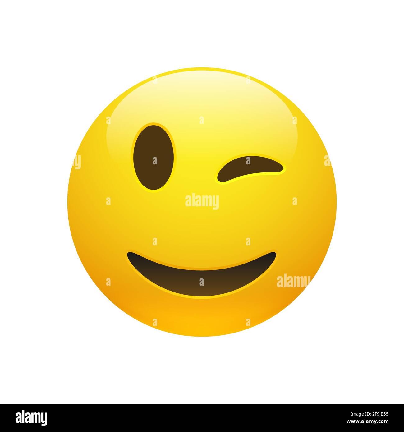 Smiley zwinkernder Outlook Smileys: