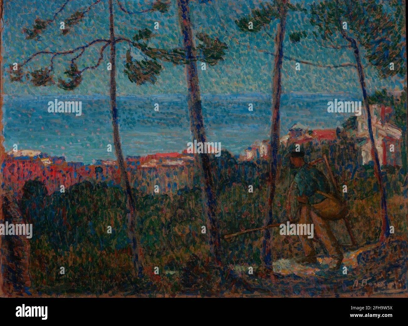 Angelo Barabino Paesaggio ligure, 1918 20 Stockfoto