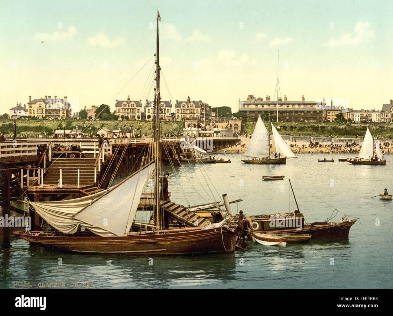 Clacton-on-Sea in Essex um 1890-1900 Stockfoto
