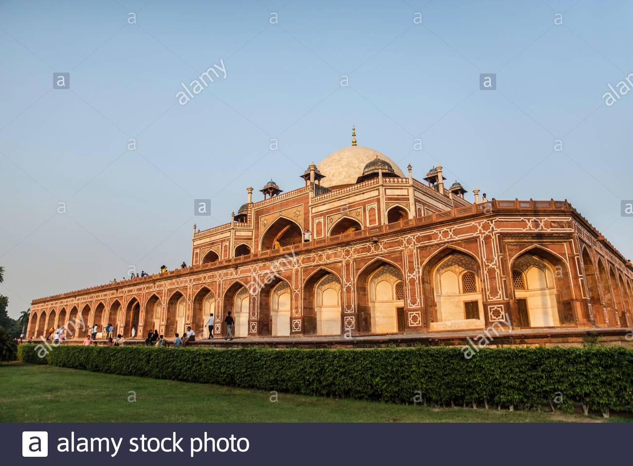 Humayun-Grab, UNESCO-Weltkulturerbe, Neu-Delhi, Indien, Asien Stockfoto