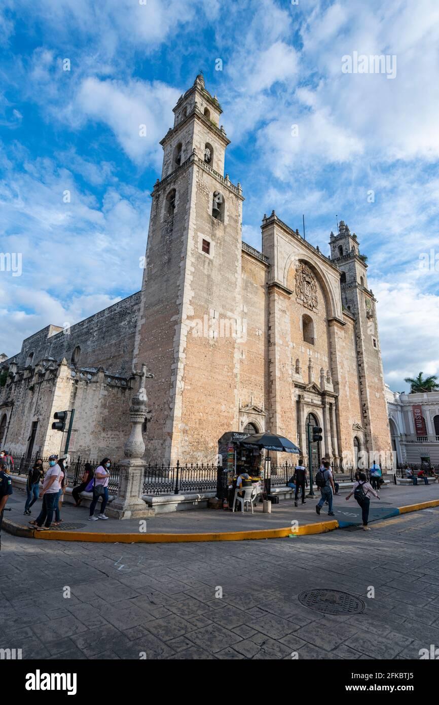 Kathedrale Von Merida, Merida, Yucatan, Mexiko, Nordamerika Stockfoto