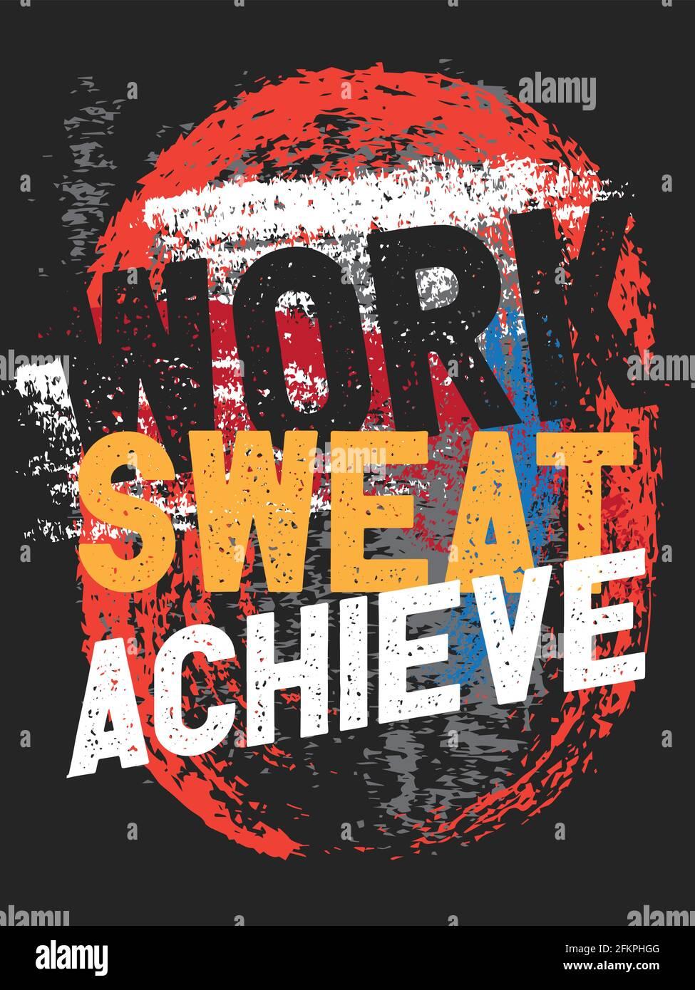 Motivierende Zitate. Inspiration Zitate Poster Design. Work Sweat ...