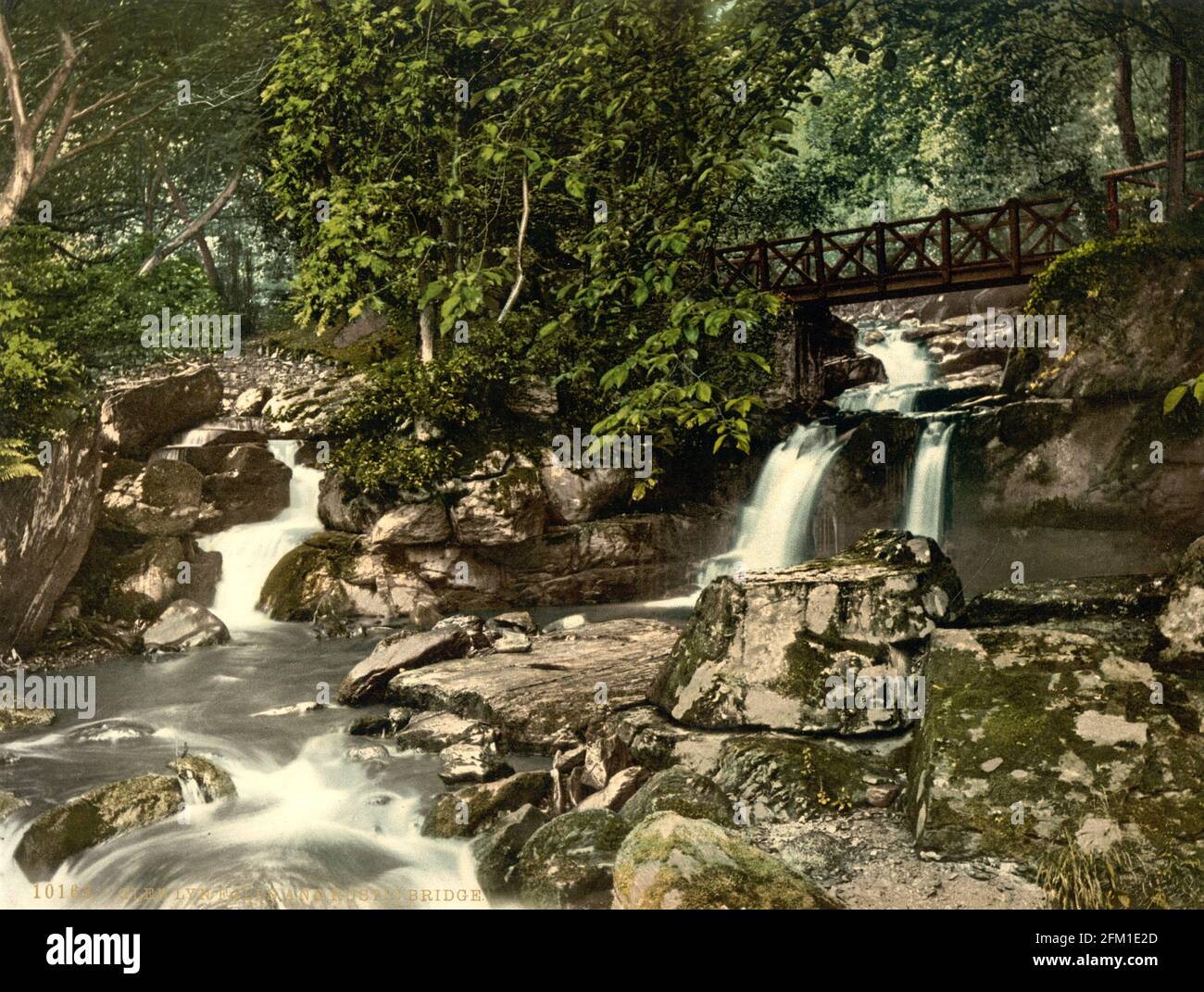 Glen Lyn Gorge bei Lynmouth in Devin um 1890-1900 Stockfoto