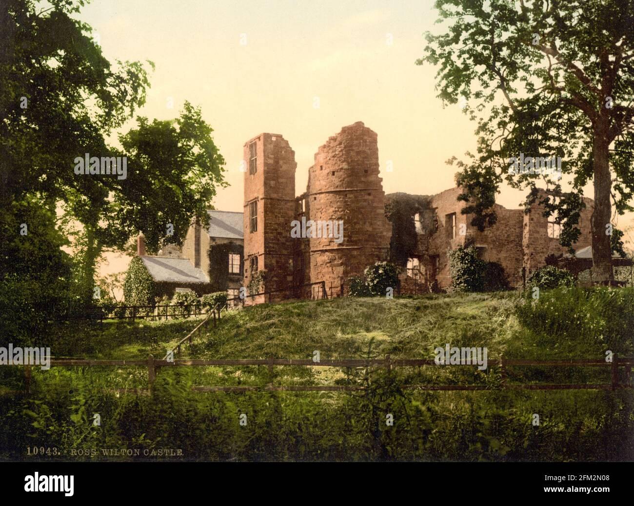 Schloss Wilton in der Nähe von Ross-on-Wye, Herefordshire, um 1890-1900 Stockfoto