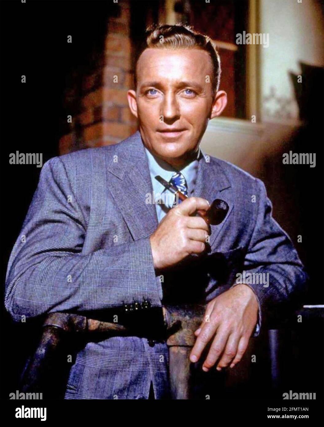 BING CROSBY (1903-1977) Amerikaner, Sänger und Filmschauspieler um 1950 Stockfoto