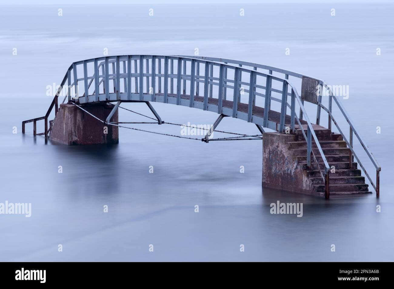 Belhaven Bridge, Dunbar auch bekannt als Bridge to Nowhere, ist ...