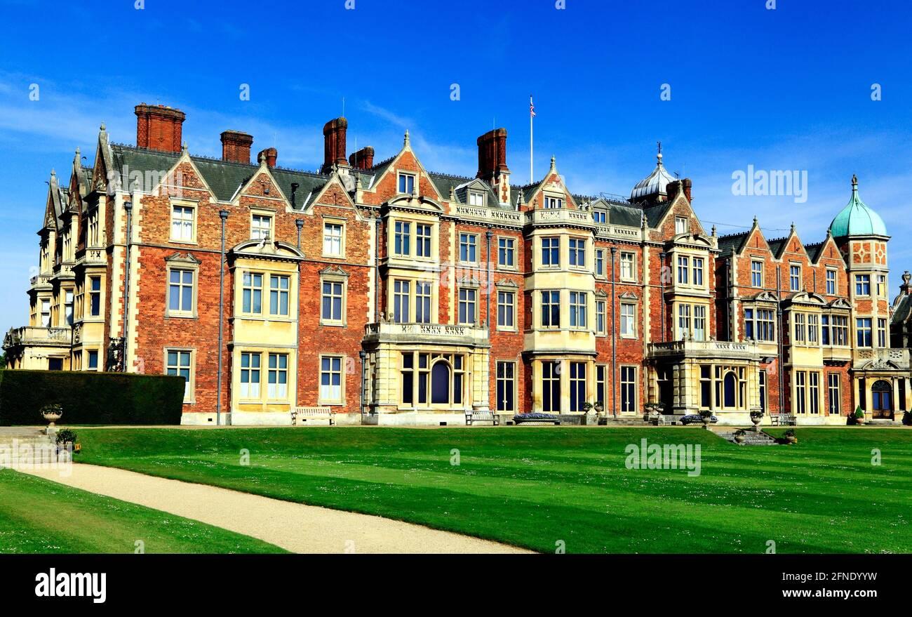 Sandringham House, Norfolk, Landsitz, von HM the Queen, 19. Jahrhundert, britisch-viktorianische Architektur, England Großbritannien Stockfoto