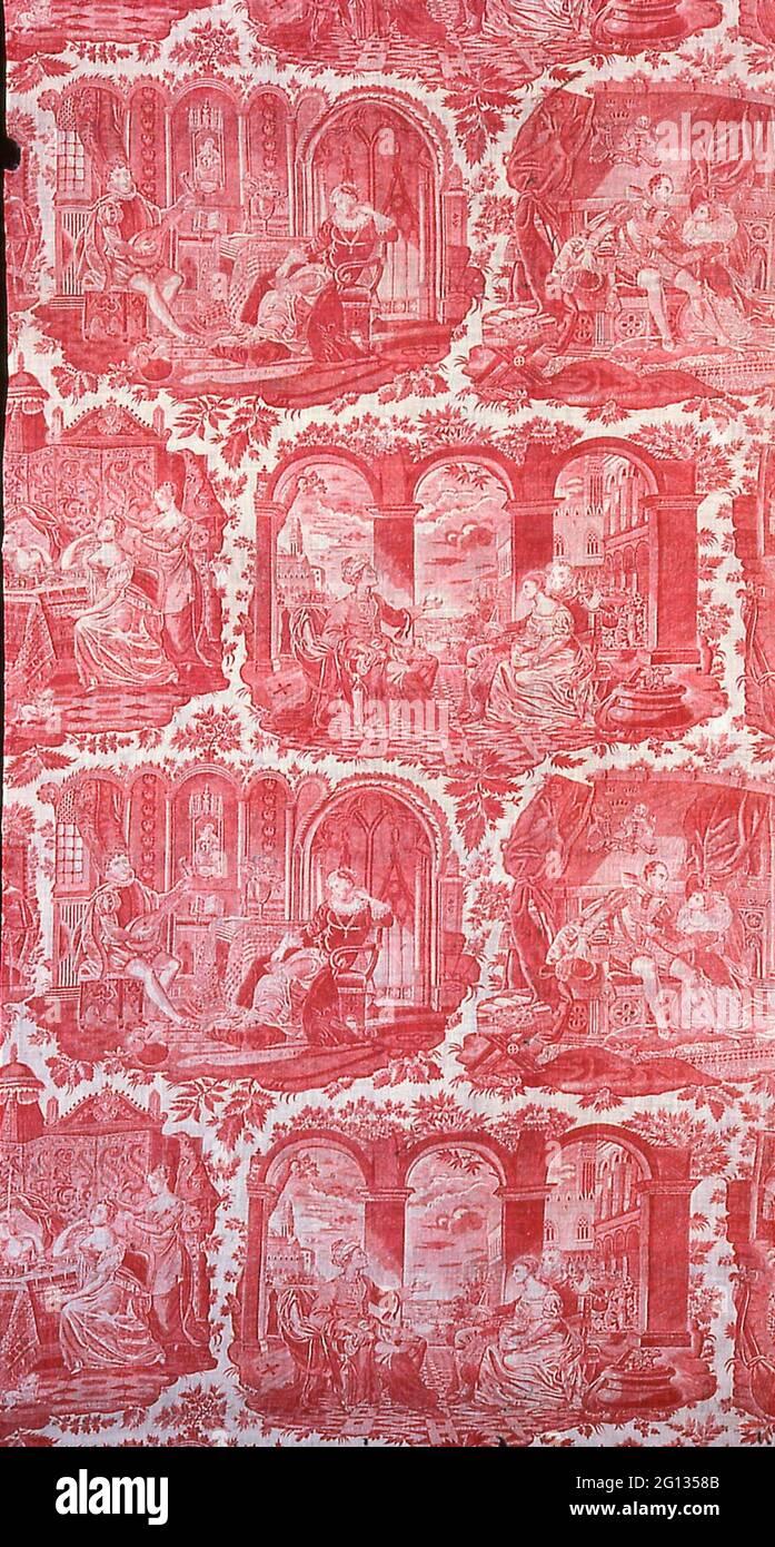 Dekorationsstoff - 1827/40 - von Philippe Wyngaert (Flämisch, aktive c ausgelegt. 1820) nach der Gravur von Jean-Pierre-Marie Jazet (Französisch, 1788-1871 Stockfoto