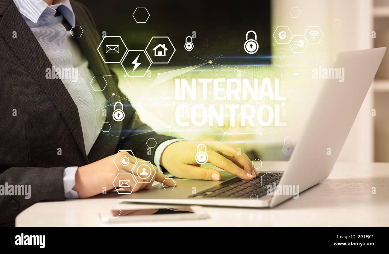 Konzept für internetsicherheit und Datenschutz Stockfoto