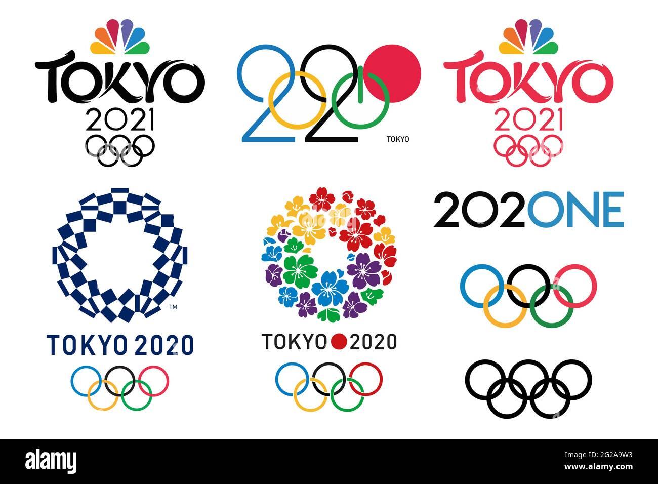 Tokio Olympische Spiele Stock Vektorgrafiken Kaufen Alamy
