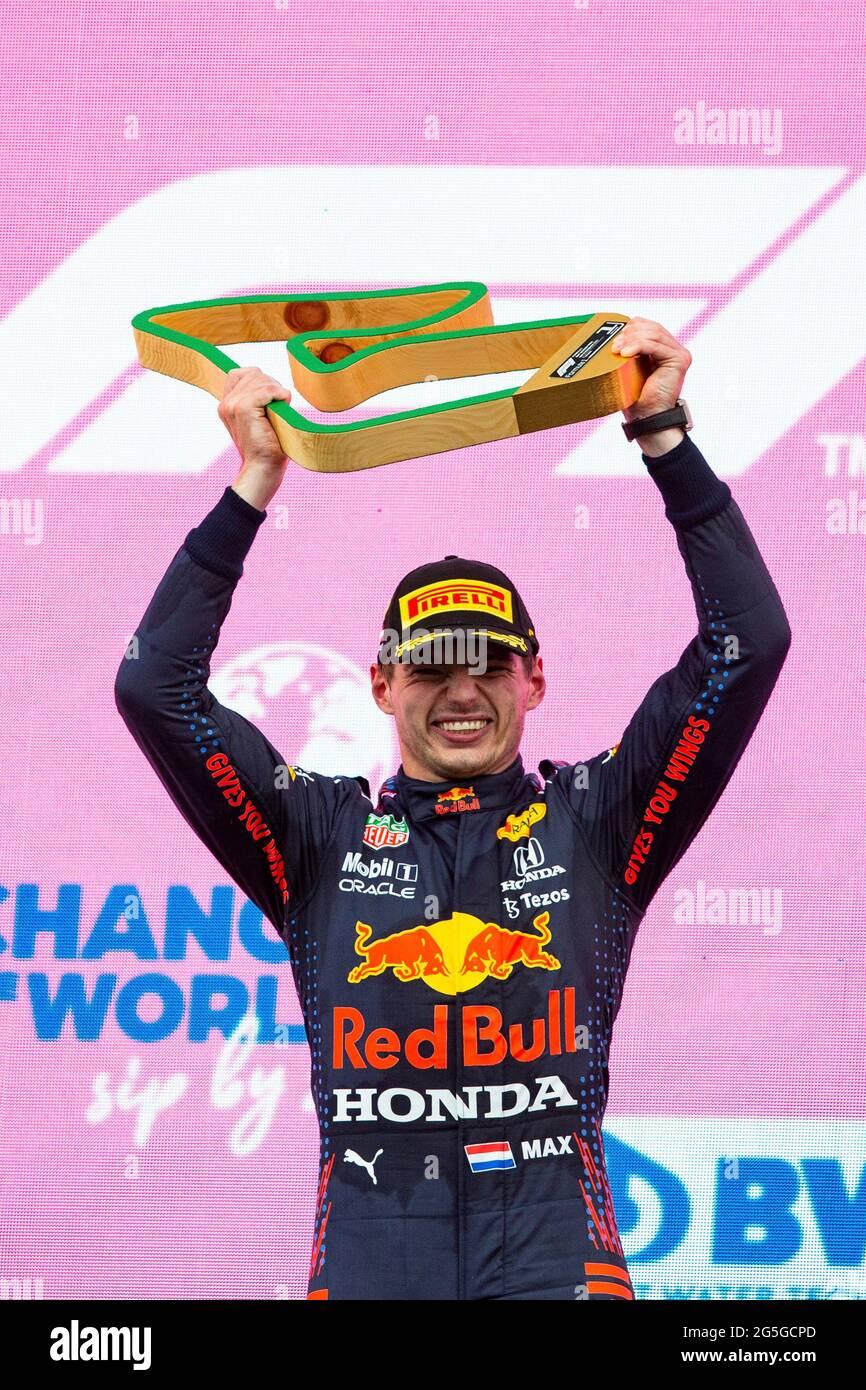 Spielberg, Österreich. Juni 2021. # 33 Max Verstappen (NED, Red Bull Racing), F1 Grand Prix der Steiermark am Red Bull Ring am 27. Juni 2021 in Spielberg, Österreich. (Foto von HOCH ZWEI) Quelle: dpa/Alamy Live News Stockfoto