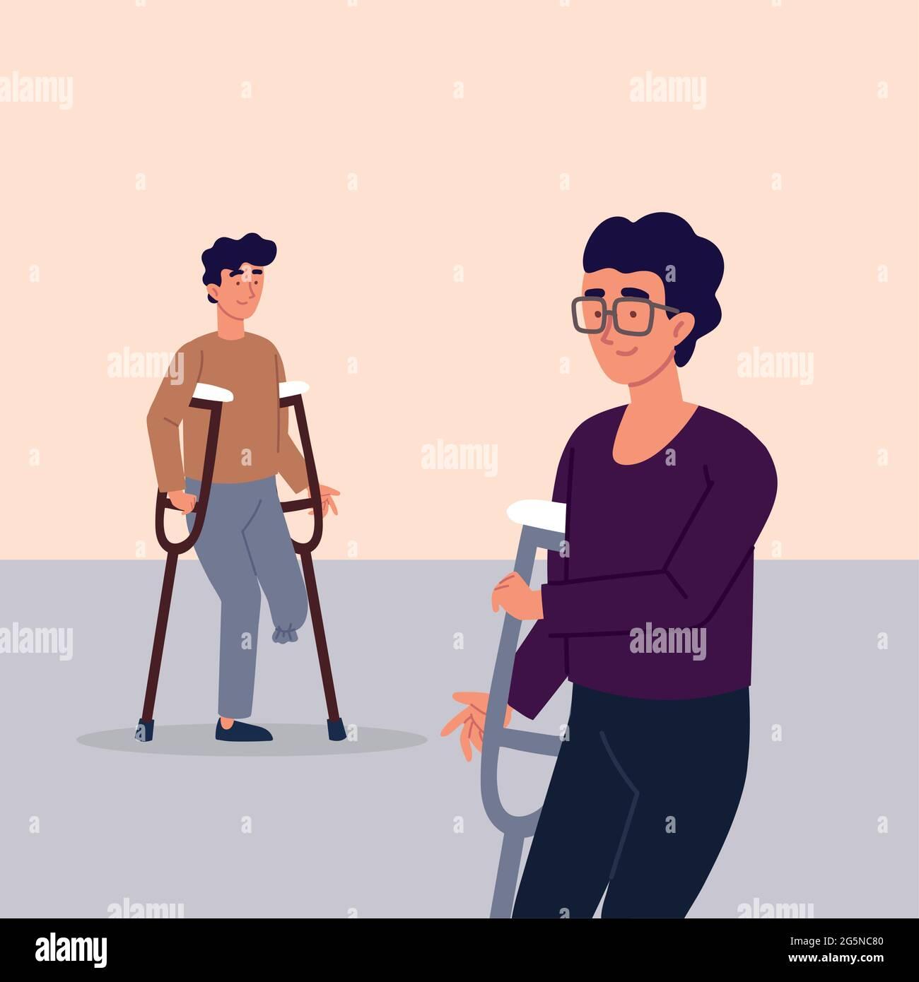 Crutches Amputee Stockfotos und -bilder Kaufen - Alamy