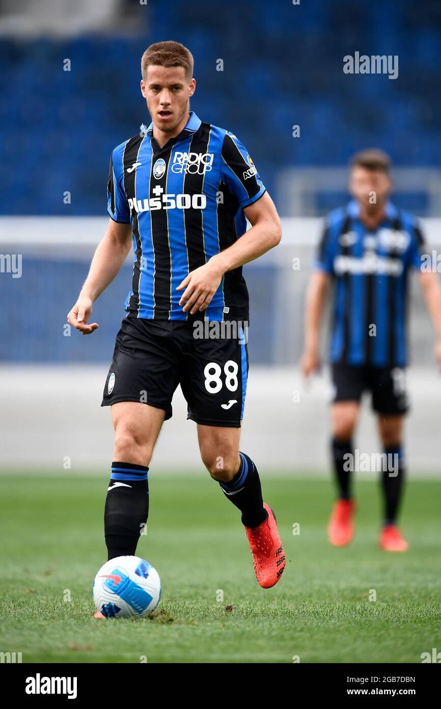Bergamo, Italien. 31. Juli 2021. Mario Pasalic von Atalanta BC in Aktion  während des Freundschaftsspiel vor der Saison zwischen Atalanta BC und  Pordenone Calcio. Atalanta BC gewann 2-1 gegen Pordenone Calcio. Kredit: