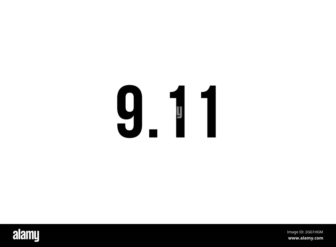 Immer erinnern 9 11, september 11. Erinnerung, Patriot Day. Wir werden nie vergessen, die Terroranschläge von 2021 Stockfoto