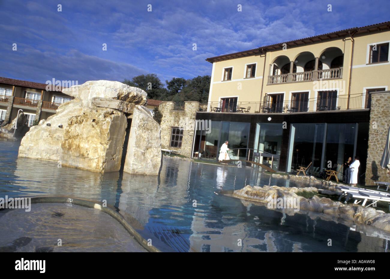 Hotel adler thermae bagno vignoni toskana italien stockfoto bild