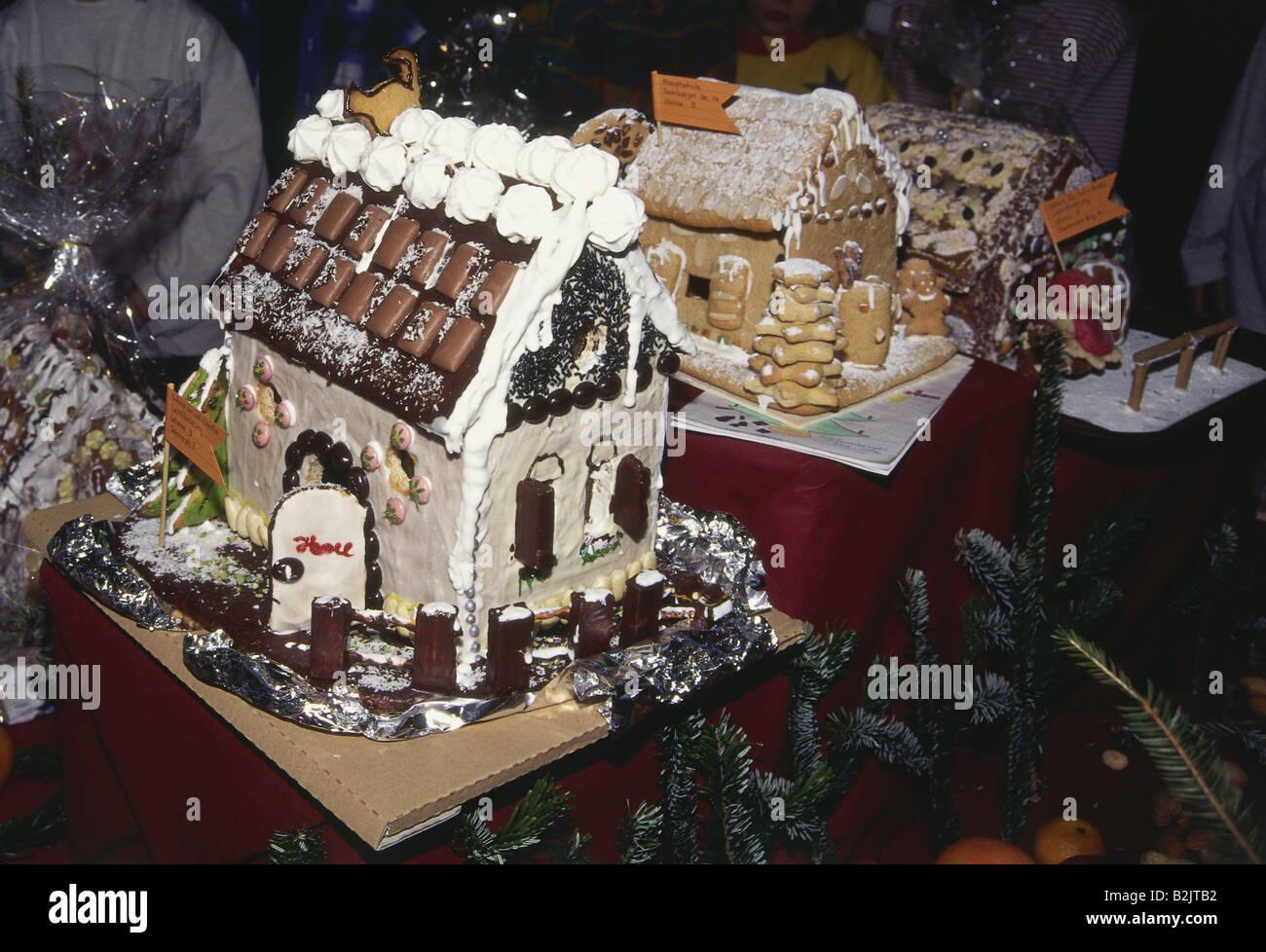 Weihnachten Geback Pfeffer Kuchen Haus Backen Wettbewerb Munchen