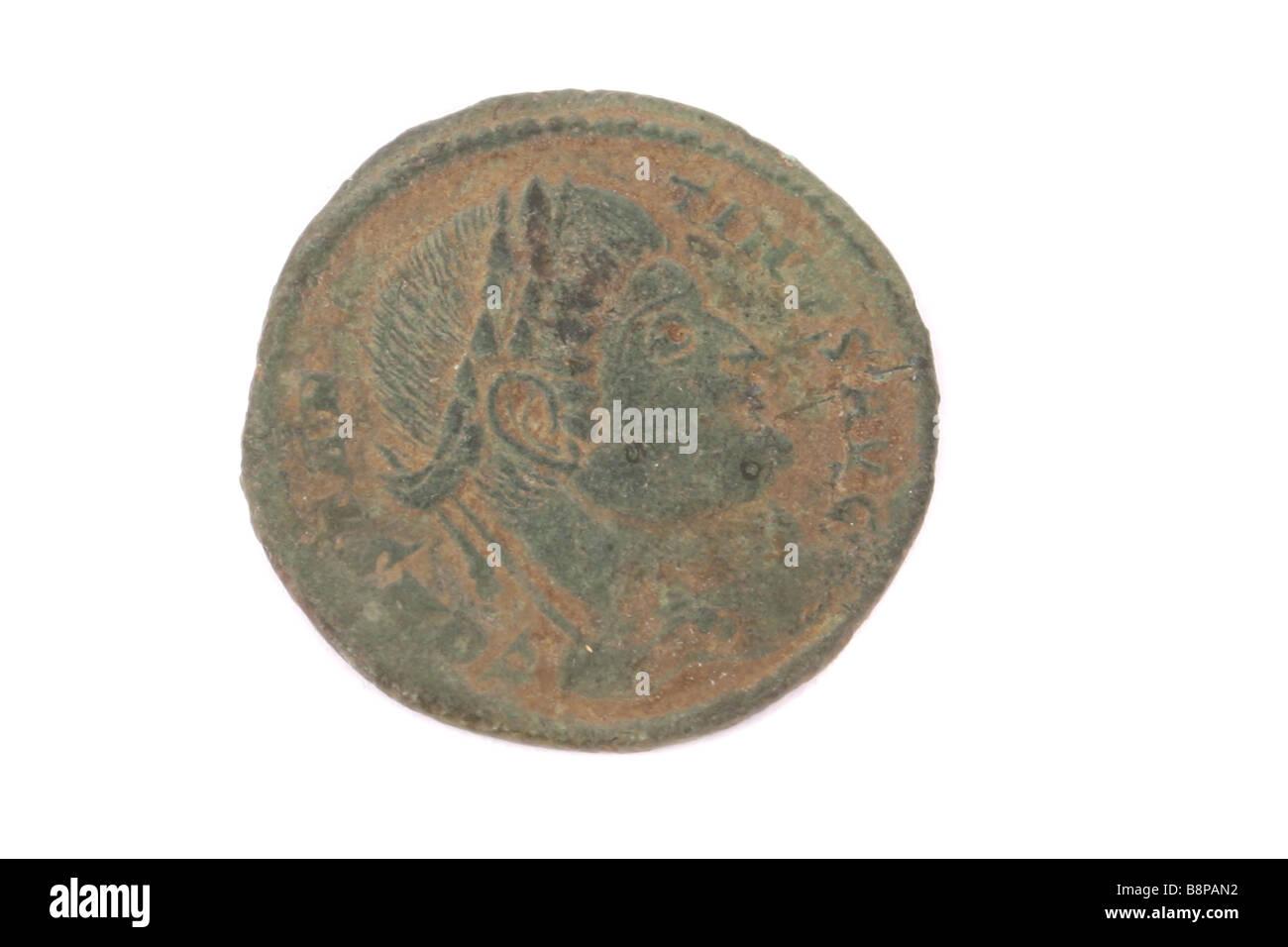 Eine Römische Münze In England Gefunden Stockfoto Bild 22618990